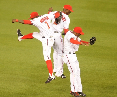 Morgan and the guys jumping.JPG