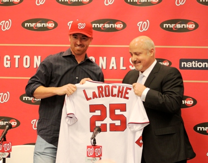Adam LaRoche introduced at Nats Park.JPG