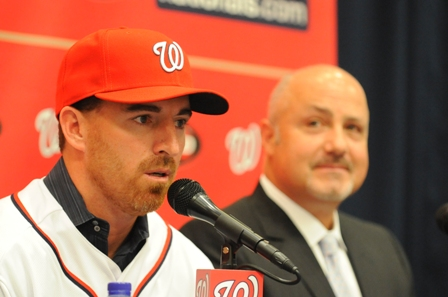 Adam LaRoche introduced at Nats Park 2.JPG