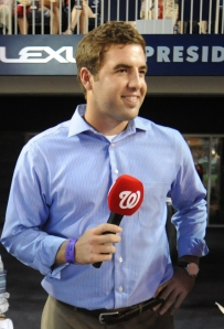 Karns visited Nationals Park to receive his Minor League Pitcher of the Year Award.