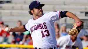 Karns was promoted mid-season and continued to shine at High-A Potomac. (Gary Dize/MiLB.com)