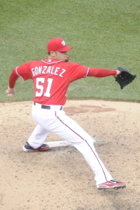 Michael Gonzalez stranded more baserunners than any other Nationals reliever.