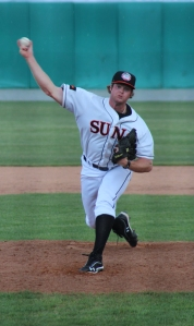 Barrett's 2012 campaign began in Hagerstown and ended in the Arizona Fall League. (Richard Dougan/Hagerstown Suns)