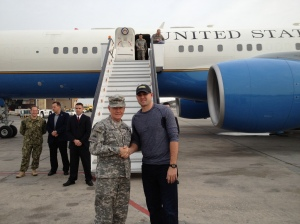 Stammen with Chairman of the Joint Chiefs General Martin Dempsey.