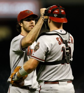 Snyder, another former Diamondback, has experience catching Dan Haren.