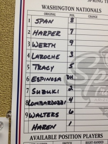 Jayson Werth, Adam LaRoche and newcomer Dan Haren get their first starts of the spring Wednesday.