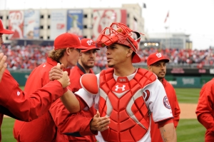 Wilson Ramos is one of many Nats now healthy after missing significant time last year.