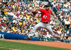 Gio Gonzalez averted disaster in the first on the way to six strong innings.