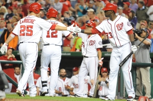 The Nationals got production and power from all over the lineup Tuesday night.