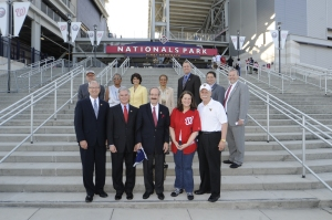 A few of the attending Congressmen gathered in front of Nationals Park.