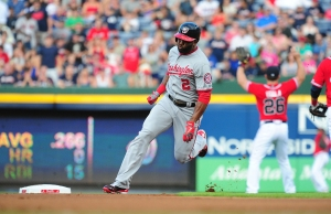 Denard Span used his speed to deliver two of Washington's three runs.
