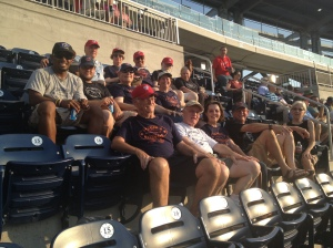 Employees of Frager's Hardware took in the Nats 7-5 victory over Arizona Tuesday night.