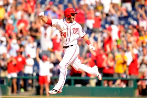 Harper's walk-off blast was the first of his career.