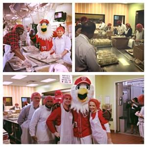 A group of Washington Nationals employees spent Monday morning volunteering at Food and Friends.