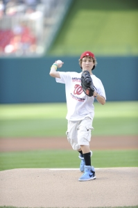 Gavin Rupp threw out the first pitch at Nationals Park.