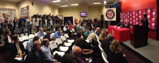 Members of the D.C. media got a chance to meet Matt Williams Friday afternoon.