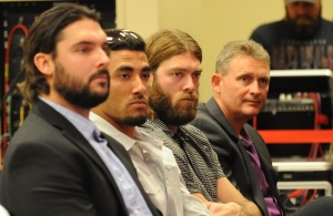 Tanner Roark, Ian Desmond, Jayson Werth and Randy Knorr sat in on Williams' press conference.