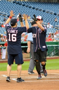 Slowes participated in the 2013 Wounded Warrior Celebrity Softball Classic at Nationals Park.