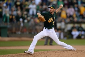 Left-handed reliever Jerry Blevins comes to the Nationals after parts of seven seasons in Oakland.