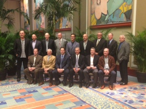 All of the National League managers posed for a photo on Wednesday after the annual managers' luncheon.