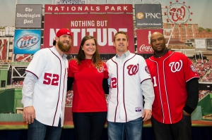 Photo-station fun with Ryan Mattheus, Tyler Moore and Livan Hernandez
