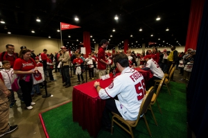Doug Fister and Craig Stammen sign autographs