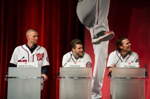 Stephen Strasburg, Bryce Harper and Tyler Clippard