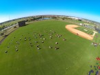 An overhead view of the Nationals' workout from the quadcopter. (Photo credit: Donald Miralle)