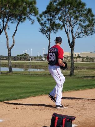 Doug Fister throws in the bullpen.