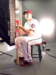 Ryan Zimmerman gets his photos taken.
