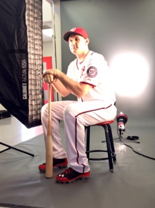 Ryan Zimmerman gets his photos taken.