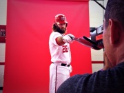 Jayson Werth poses for the cameras.