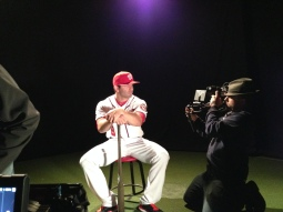 Danny Espinosa posed for the cameras during his photo shoot.