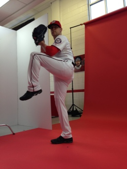 Drew Storen poses during his photo shoot on Sunday.