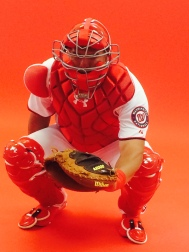 Wilson Ramos strapped the gear back on for his photo shoot on Sunday.