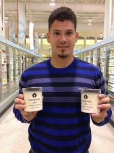 Jose Lobaton tweeted a picture of his first ice cream purchase as a National on Thursday night. (Photo via @JLobaton21)
