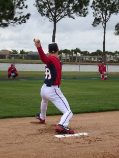 Taylor Jordan throws in his bullpen session on Saturday.