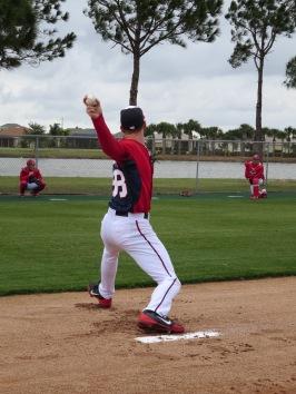 Taylor Jordan throws in his bullpen session on Saturday.