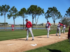 Jerry Blevins, Drew Storen, Ryan Mattheus and Felipe Rivero work in the bullpen.