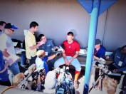 Stephen Strasburg meets with the media.