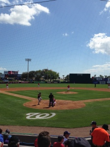 Jordan Zimmermann readies to throw a pitch in his first spring start.