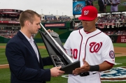 Ian Desmond accepted his second consecutive Louisville Silver Slugger Award.