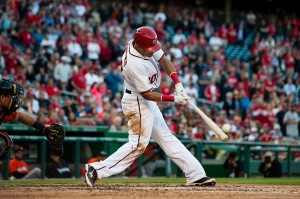 Ian Desmond connects on the Grand Slam that put a close game out of reach.