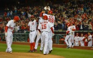 Jayson Werth celebrates his grand slam with teammates.