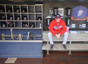 Matt Williams waits before his first game as an MLB manager.