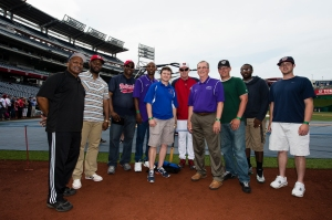 Nationals Manager Matt Williams with DCPS coaches.