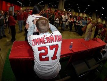 Jordan Zimmermann ups the value of one lucky fan's jersey.