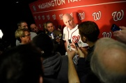 Nationals Manager Matt Williams meets the media.