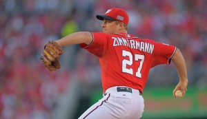 the Washington Nationals Nationals play the San Francisco Giants in the 2nd playoff game