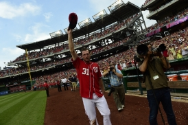 WASHINGTON, DC - JULY 20: The Washington Nationals play a MLB game at Nationals Park on June 20, 2015 in Washington, DC. (Photo by Patrick McDermott for the Washington Nationals Baseball Club)